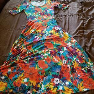 LuLaRoe Ana Floral Maxi Dress